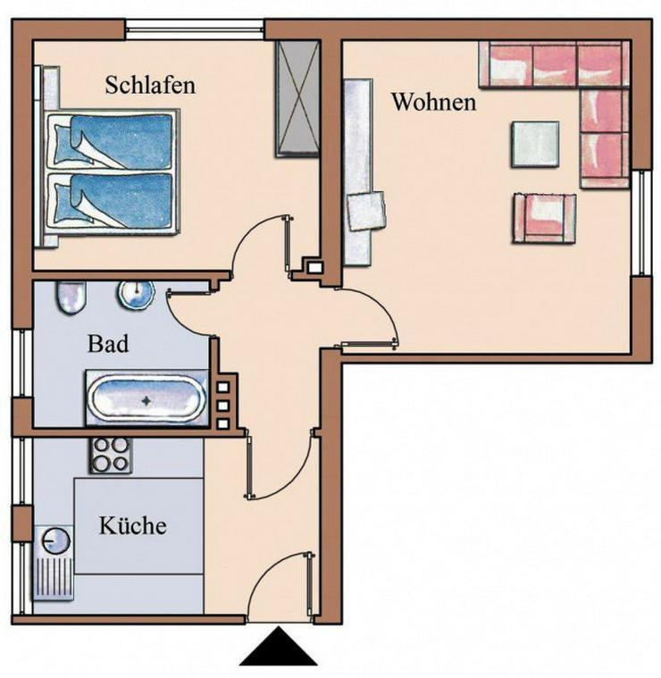 2 Zimmer Wohnung Nürnberg  2 Zimmer Wohnung in ruhiger Lage in Tecklenburg Leeden