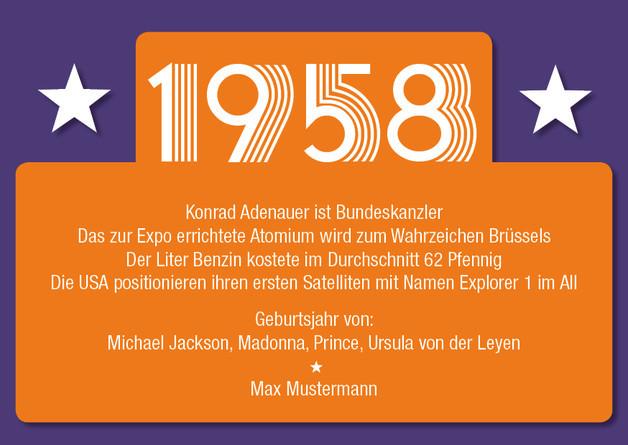 50. Geburtstag Zitate  Einladungen Einladung zum 60 Geburtstag 1958