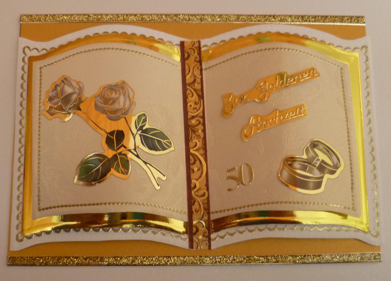 50 Jahre Miteinander Zur Goldenen Hochzeit  Bastelkatze Slusia 50 Jahre Eheglück