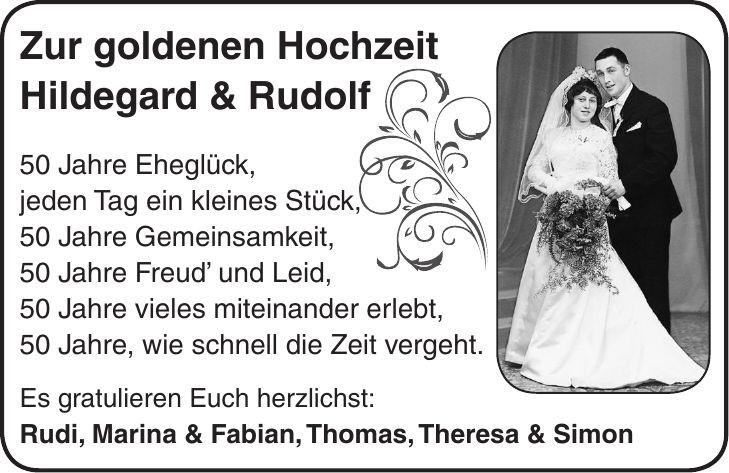 50 Jahre Miteinander Zur Goldenen Hochzeit  Grußanzeige Familienanzeigen Herzliche