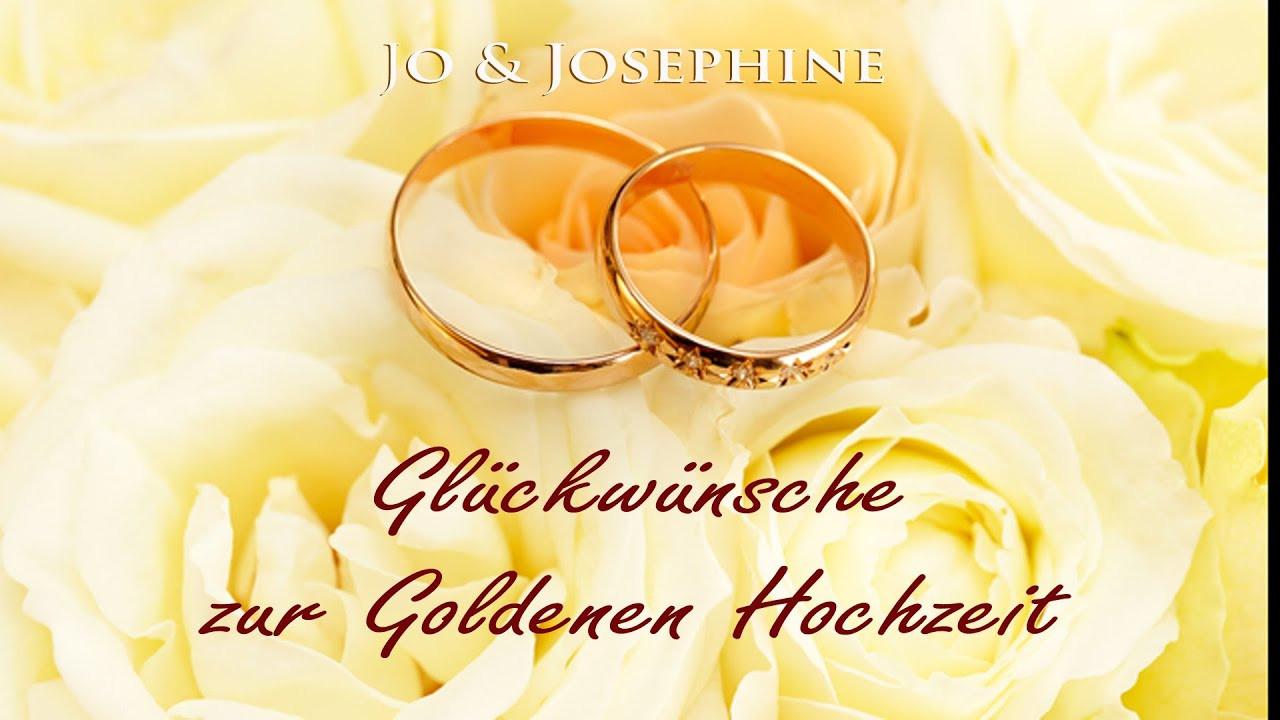 50 Jahre Miteinander Zur Goldenen Hochzeit  Glückwünsche zur Goldenen Hochzeit Lied zur Goldenen