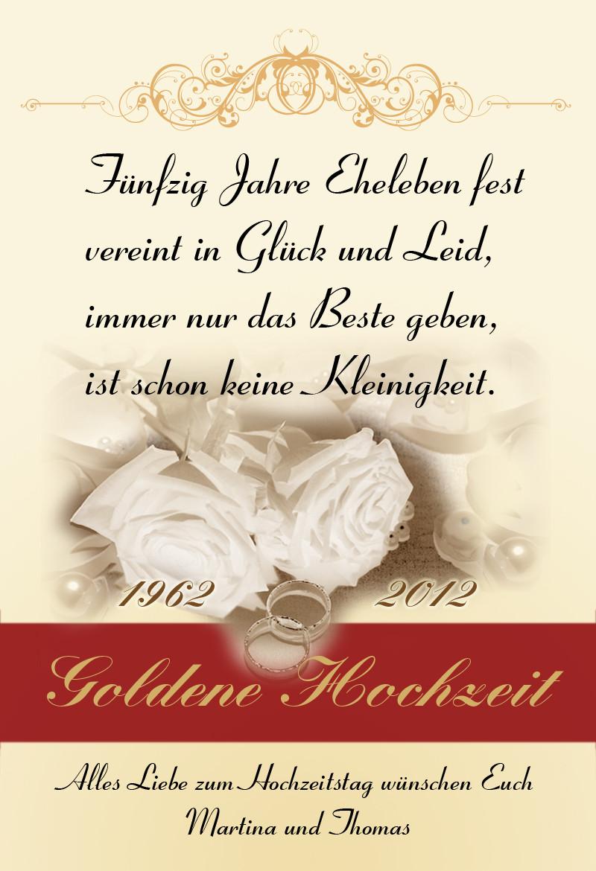 50 Jahre Miteinander Zur Goldenen Hochzeit  Hartmann Premium Quartett für Sinne Persönliche