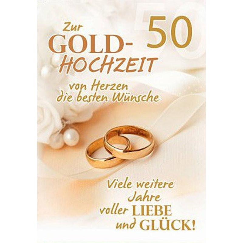 50 Jahre Miteinander Zur Goldenen Hochzeit  A4 Glückwunschkarte Goldene Hochzeit 50 Hochzeitstag
