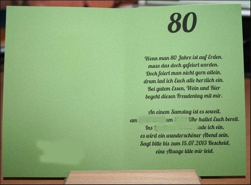 80. Geburtstag Zitate  Zitate 80 Geburtstag Einladung