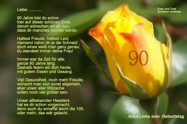 90 Geburtstag Zitate  Zum 90 Geburtstag Ein Bildgedicht von Andreas Zenleser