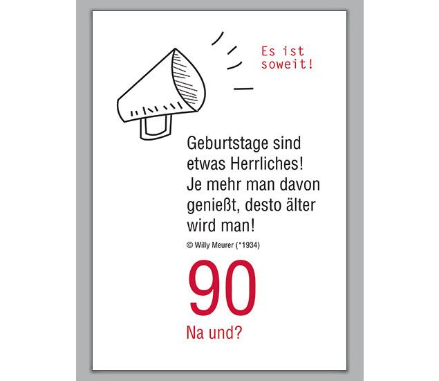 90 Geburtstag Zitate  Schöne Geburtstagskarte zum 90 Geburtstag