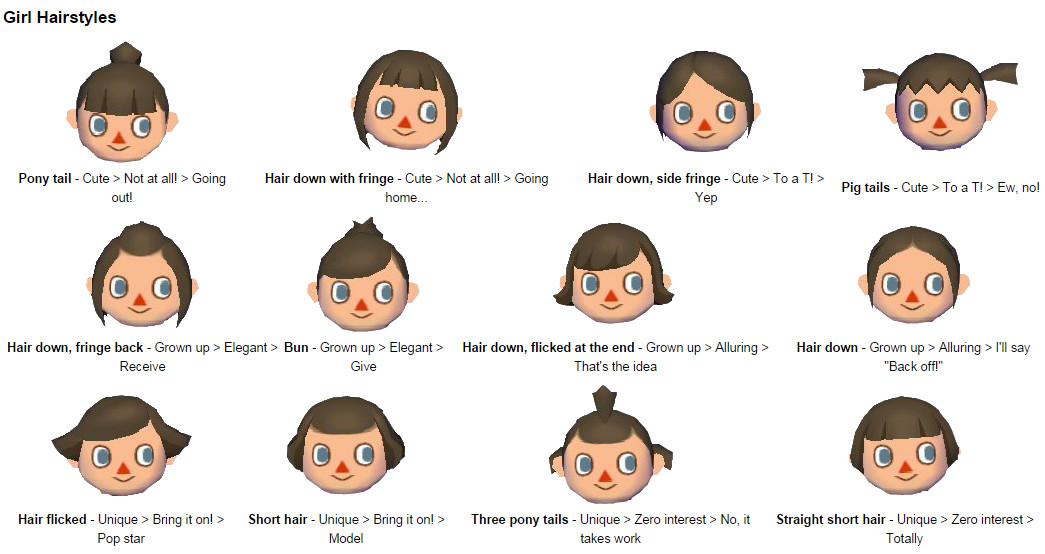 Acww Frisuren  Animal Crossing New Leaf Frisuren Augenfarbe Frisur Frisur