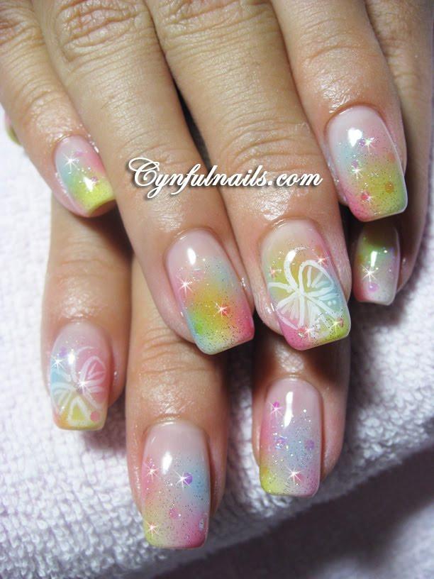 Airbrush Nageldesign  Nail art Airbrush nail art