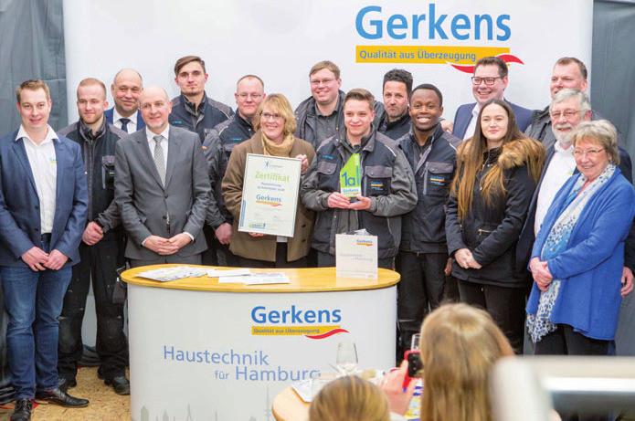 "Akademie Zukunft Handwerk  Gerkens Haustechnik ist ""1a Arbeitgeber"" Hamburger"