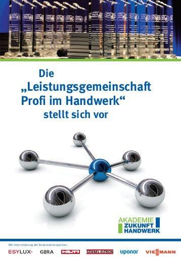Akademie Zukunft Handwerk  in unserer Broschüre Akademie Zukunft Handwerk