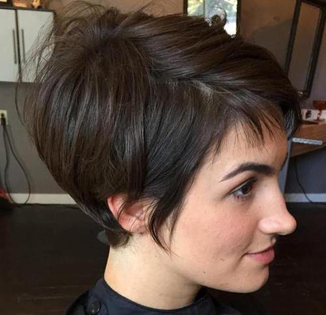 Aktuelle Frisuren Frauen 2019  Kurzhaarfrisuren Damen Braun Trend 2019 Aktuelle