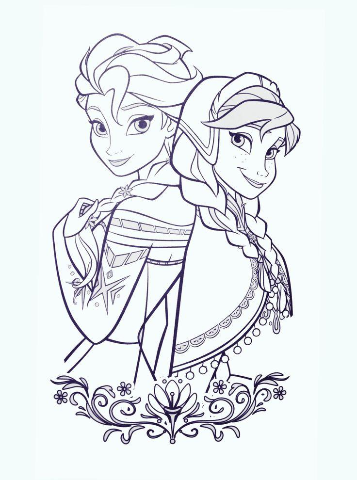 Anna Ausmalbilder  Ausmalbilder Anna Und Elsa Ausmalbilder Coloring Pages