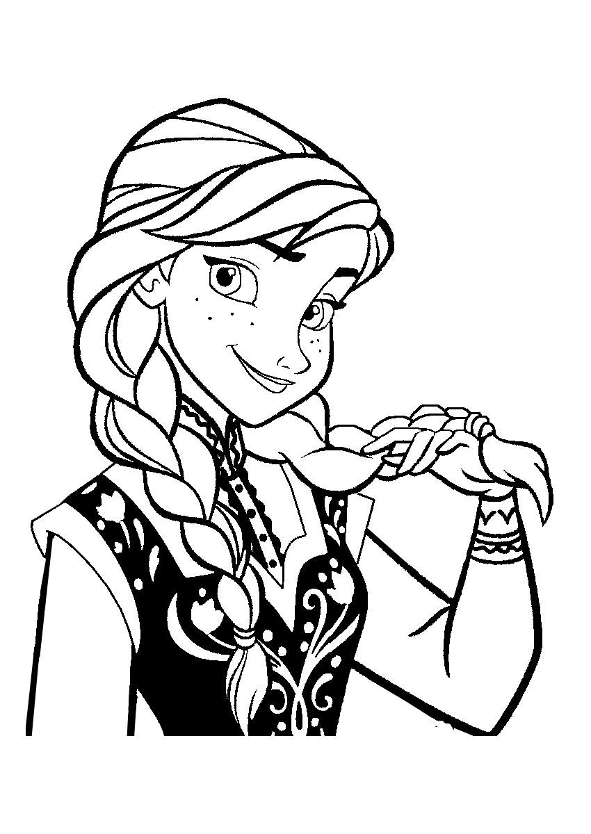 Anna Ausmalbilder  19 dessins de coloriage Reine Des Neiges Anna à imprimer