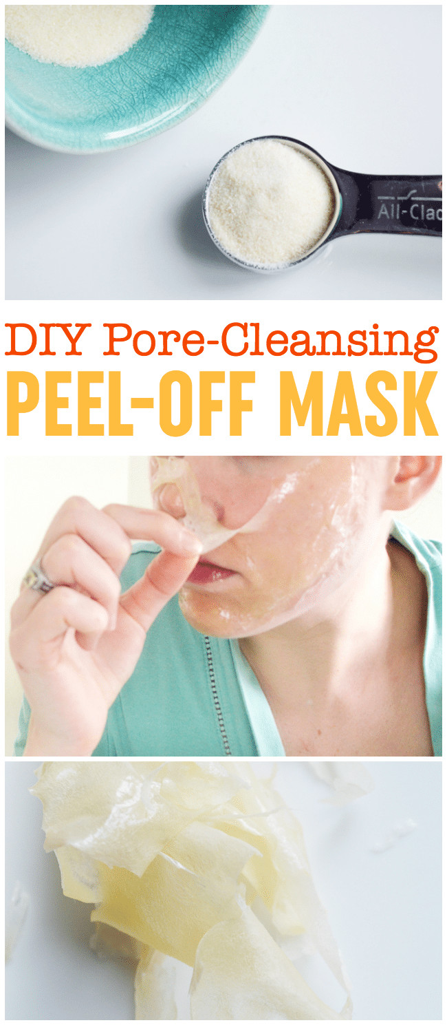 Anti Blackhead Maske Diy  DIY Peel f Mask Pore Cleansing Blackhead Busting Face