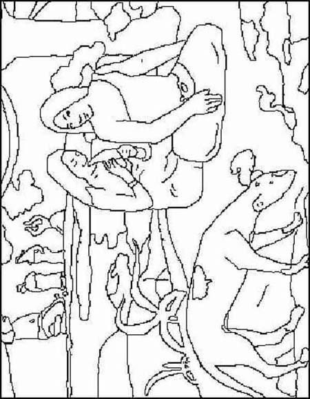 Arcimboldo Ausmalbilder  10 dessins de coloriage Grands Peintres à imprimer