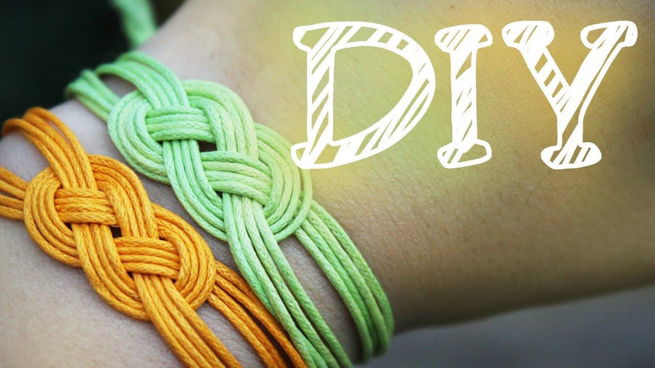 Armband Verschluss Diy  DIY Knoten Armband Seemannsknoten Trossenstek