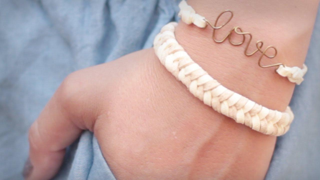 Armband Verschluss Diy  DIY super einfaches Fischgrät Armband sommerlich easy