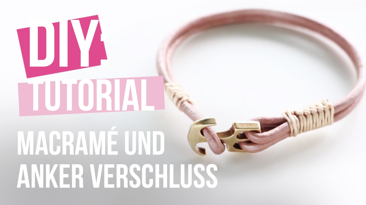 Armband Verschluss Diy  Schmuck machen Trendy armband mit anker verschluss und