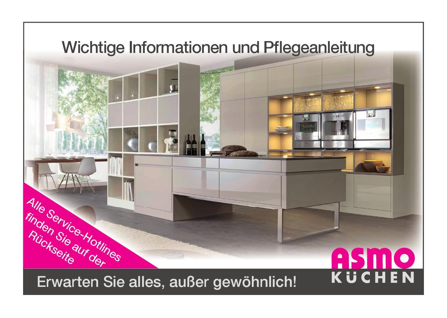 Asmo Küchen  ASMO Küchen Pflegeanleitung by Steffen Kley Issuu