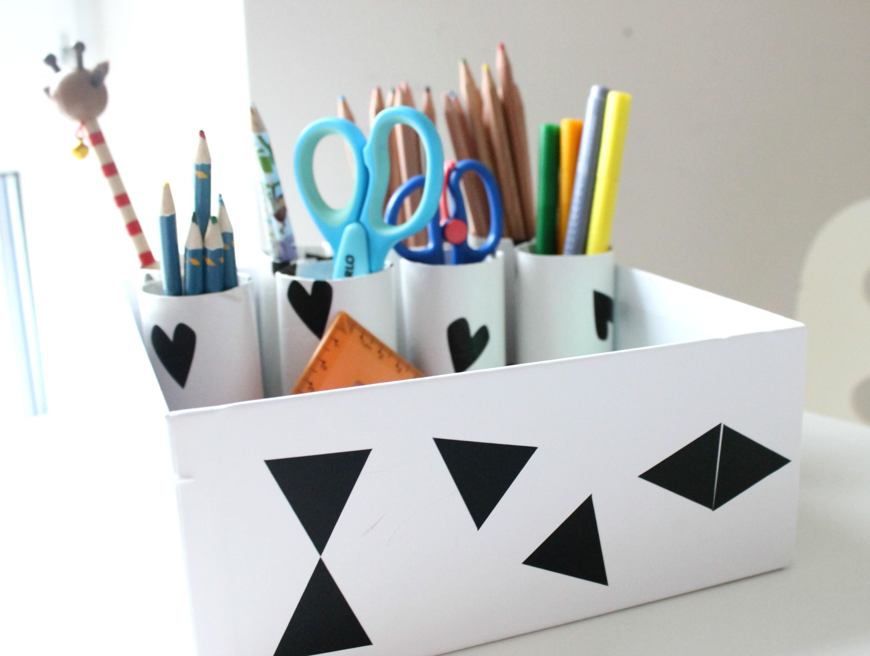Aufbewahrung Diy  DIY Aufbewahrung Organisation Schreibtisch im