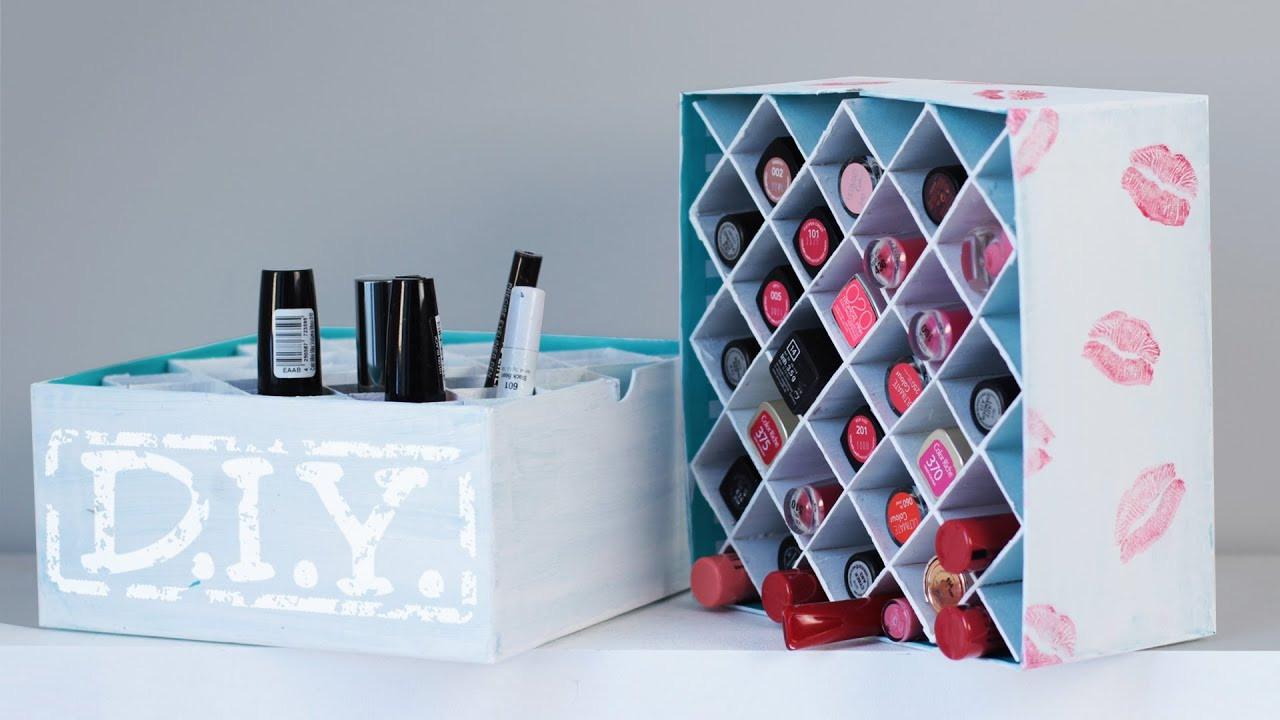 Aufbewahrung Diy  DIY Makeup Aufbewahrung Lippenstift Box Deko