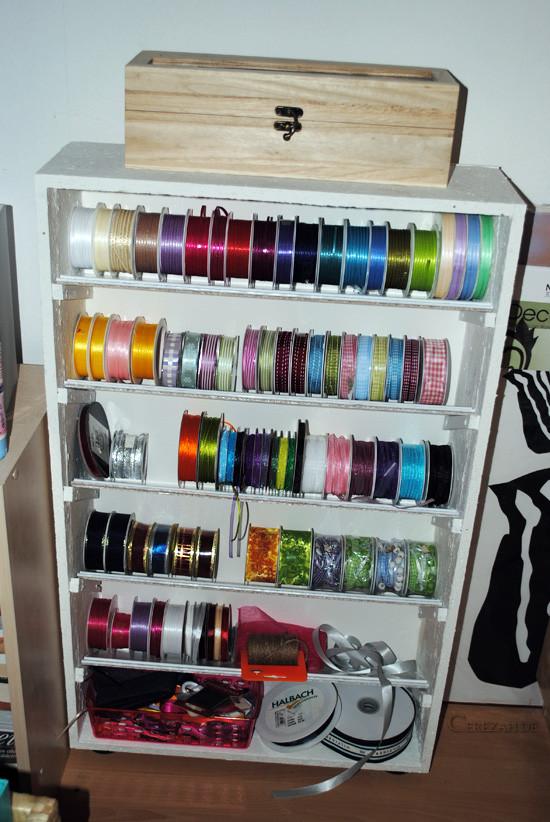 Aufbewahrung Diy  DIY Cerezah Schleifenbänder Aufbewahrung