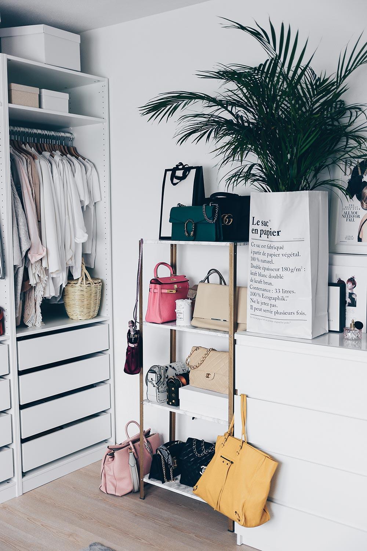 Aufbewahrung Diy  IKEA Hyllis Hack Meine DIY Taschen Aufbewahrung im