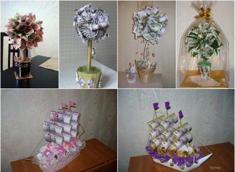 Außergewöhnliche Geburtstagsgeschenke  Geldgeschenke zur Hochzeit originell verpacken 47 Ideen