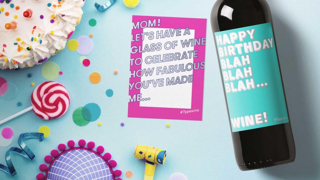 Außergewöhnliche Geburtstagsgeschenke  Flaschenetiketten mit Weinsprüchen von Typewine