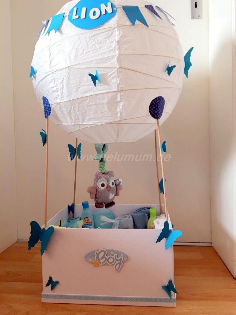 Ausgefallene Geschenke Zur Geburt  Heißluftballon zur Geburt NeLuMum