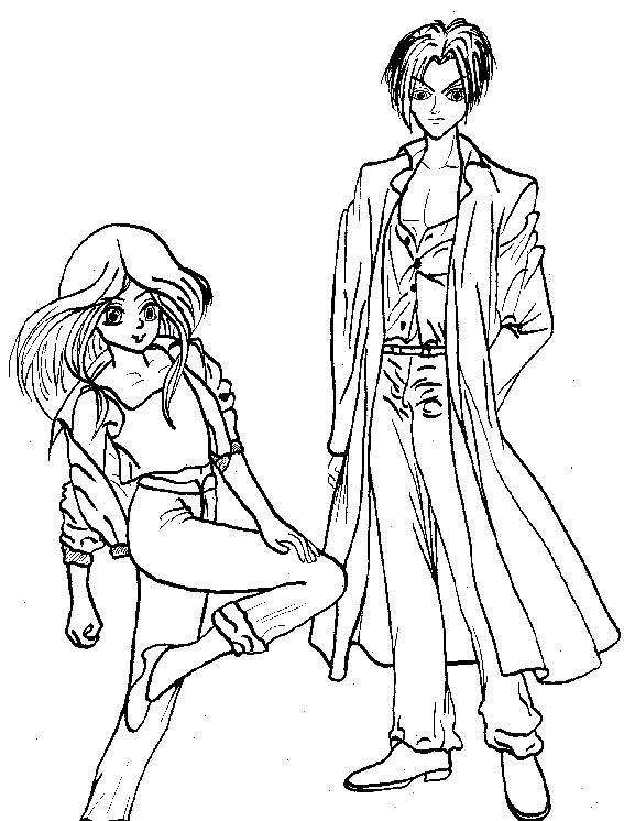 Ausmalbilder Anime Mädchen  Ausmalbilder