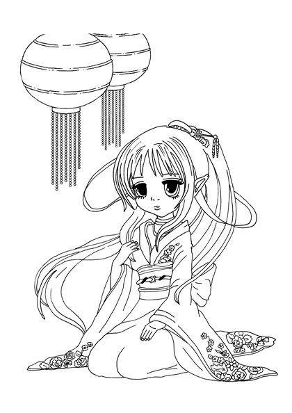 Ausmalbilder Anime Mädchen  7 besten Malvorlagen Manga Anime kostenlos zum
