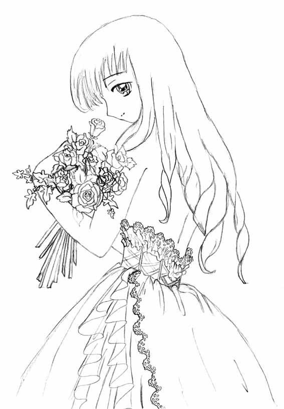 Ausmalbilder Anime Mädchen  Ausmalbilder Anime Ausmalbilder Coloring Pages