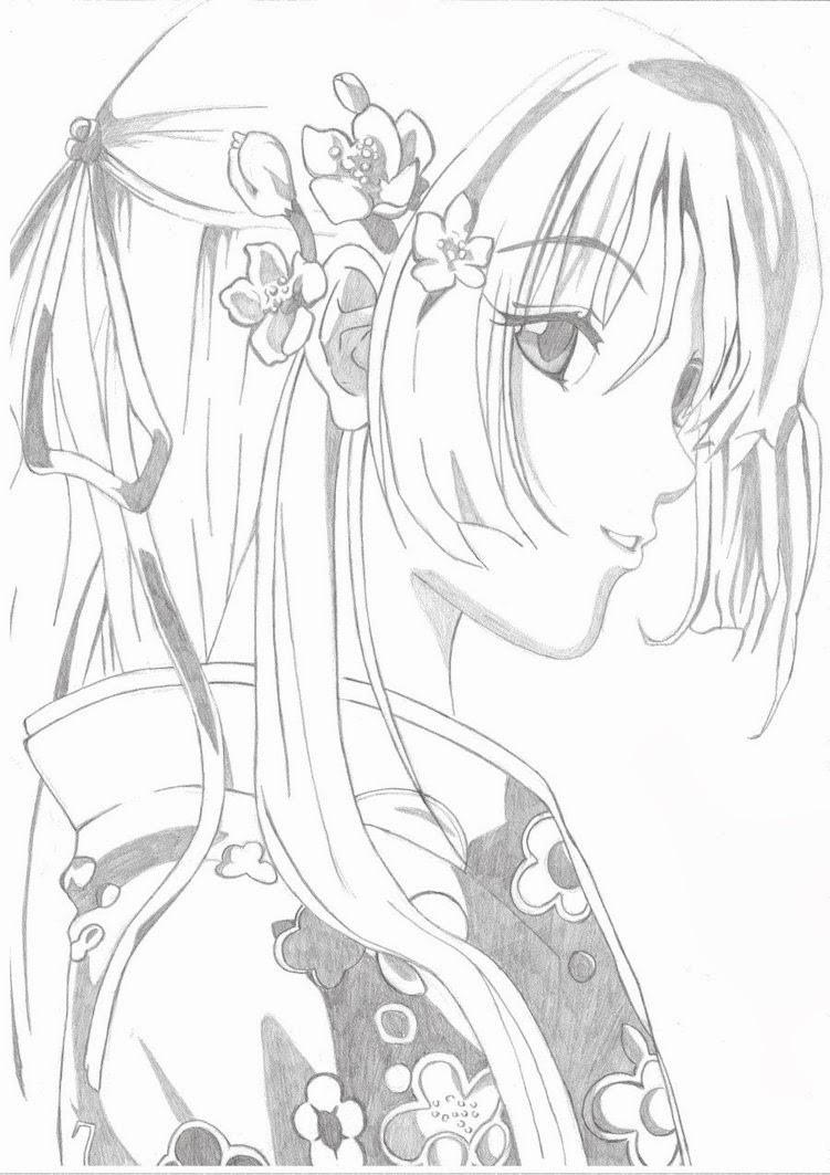 Ausmalbilder Anime Tiere  Malvorlagen Gratis MANGA MALVORLAGEN