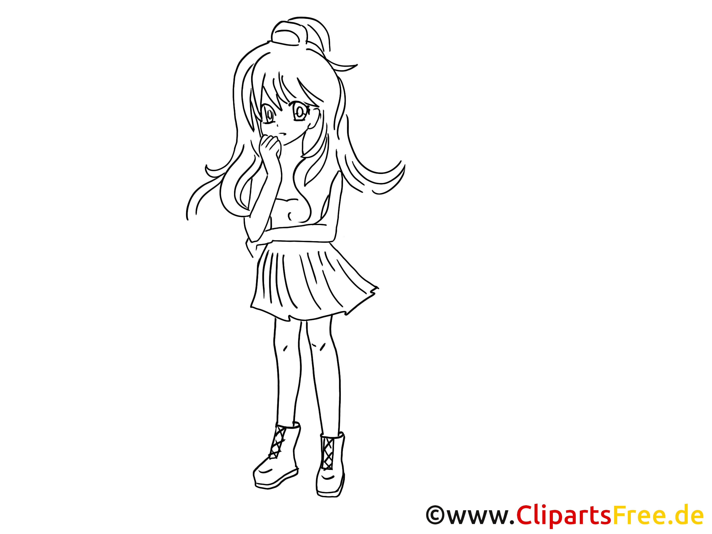 Ausmalbilder Anime Tiere  Anime zum Ausmalen Malvorlage Ausmalbild gratis