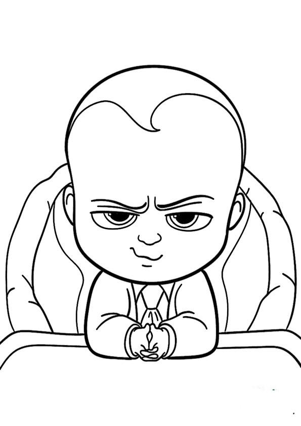 Ausmalbilder Boss Baby  Ausmalbilder Malvorlagen Malen nach zalen
