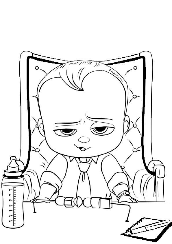 Ausmalbilder Boss Baby  the boss baby 10