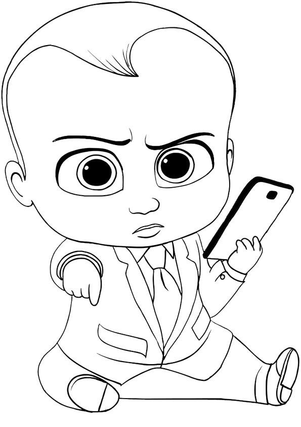 Ausmalbilder Boss Baby  the boss baby 34