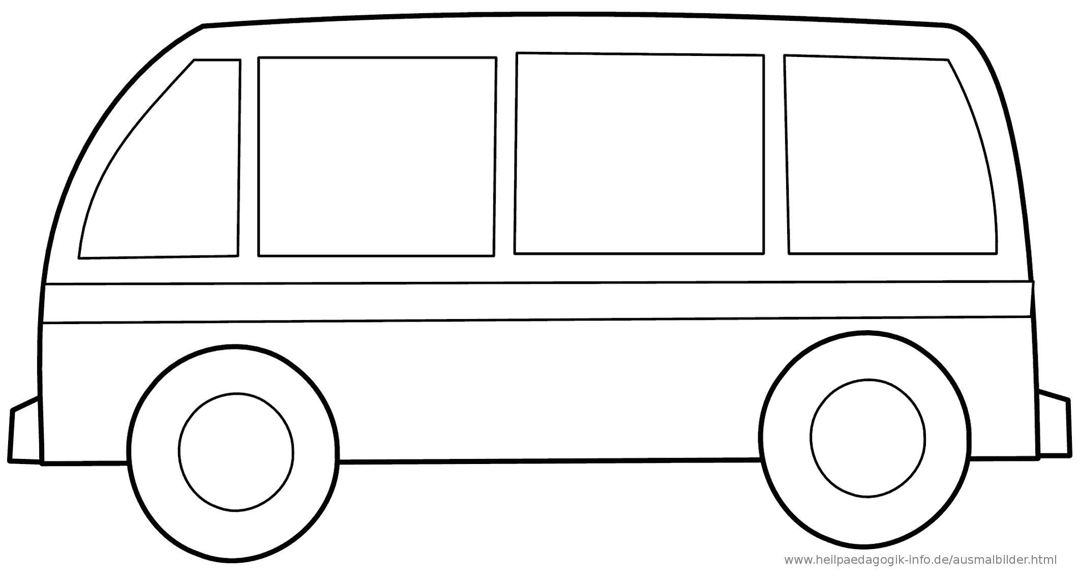 Ausmalbilder Bus  Ausmalbilder Busse