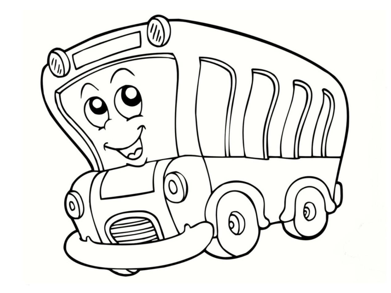 Ausmalbilder Bus  Malvorlagen zum Ausmalen Ausmalbilder Bus gratis 2