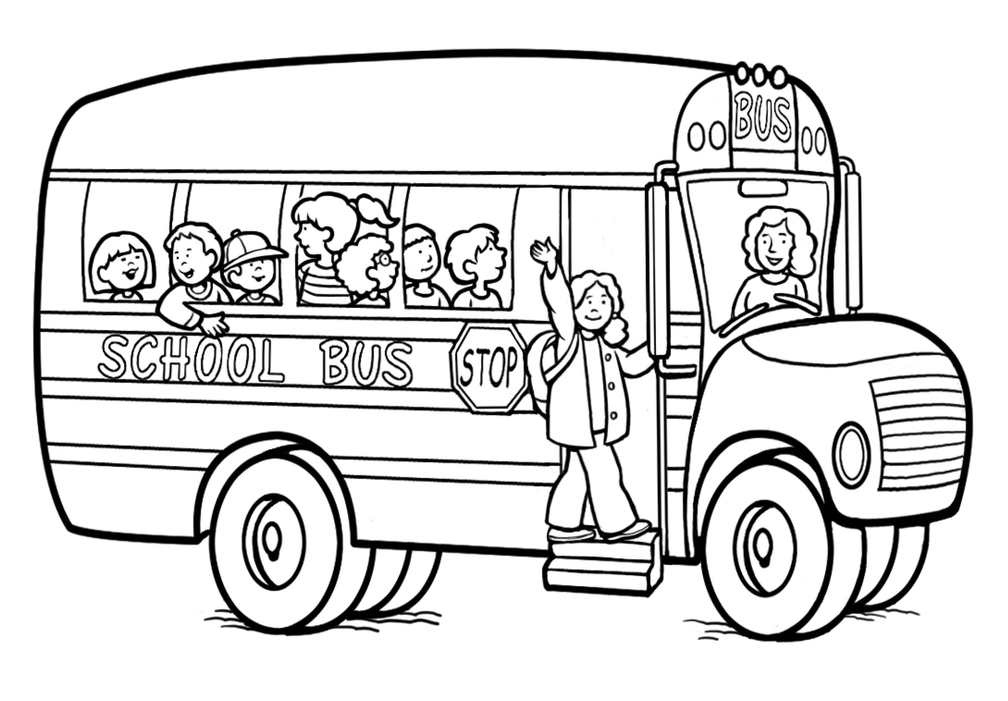 Ausmalbilder Bus  Malvorlagen fur kinder Ausmalbilder Bus kostenlos Page