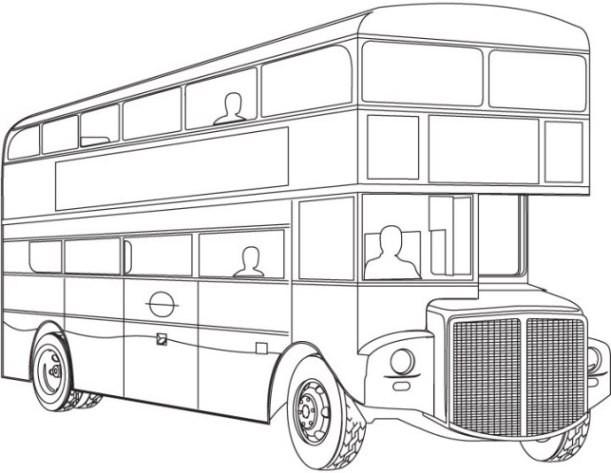 Ausmalbilder Bus  Vorlagen zum Ausmalen Malvorlagen Bus Ausmalbilder 1