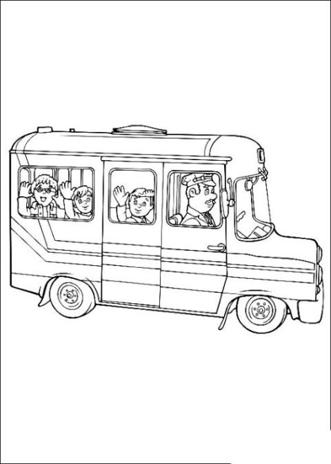 Ausmalbilder Bus  Malvorlagen zum Ausdrucken Ausmalbilder Bus kostenlos 1