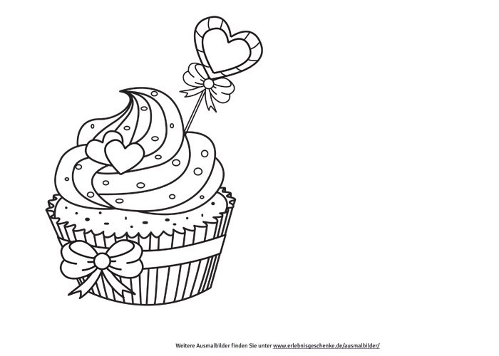 Ausmalbilder Cupcake  Bild 2 Ausmalbilder Cupcake