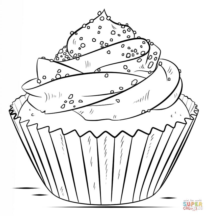 Ausmalbilder Cupcake  Ausmalbild Cupcake