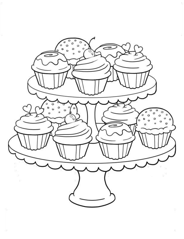 Ausmalbilder Cupcake  Cupcake Ausmalbilder für Erwachsene kostenlos zum Ausdrucken 3