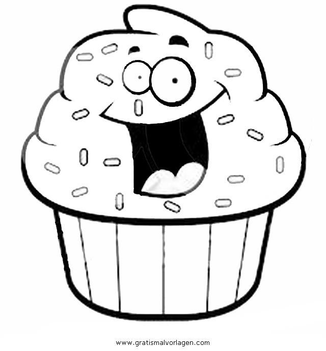 Ausmalbilder Cupcake  cupcake 4 gratis Malvorlage in Beliebt11 Diverse