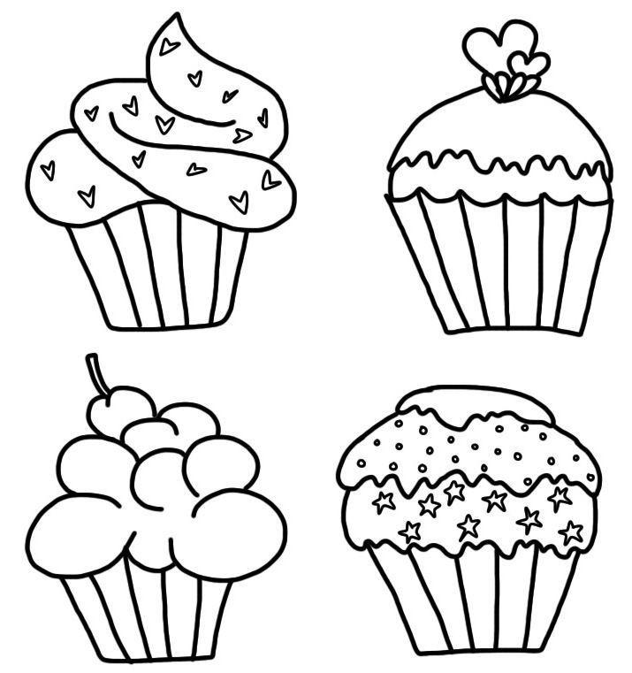 Ausmalbilder Cupcake  ausmalbilder kostenlos – Cupcake – Star malvorlagen vol
