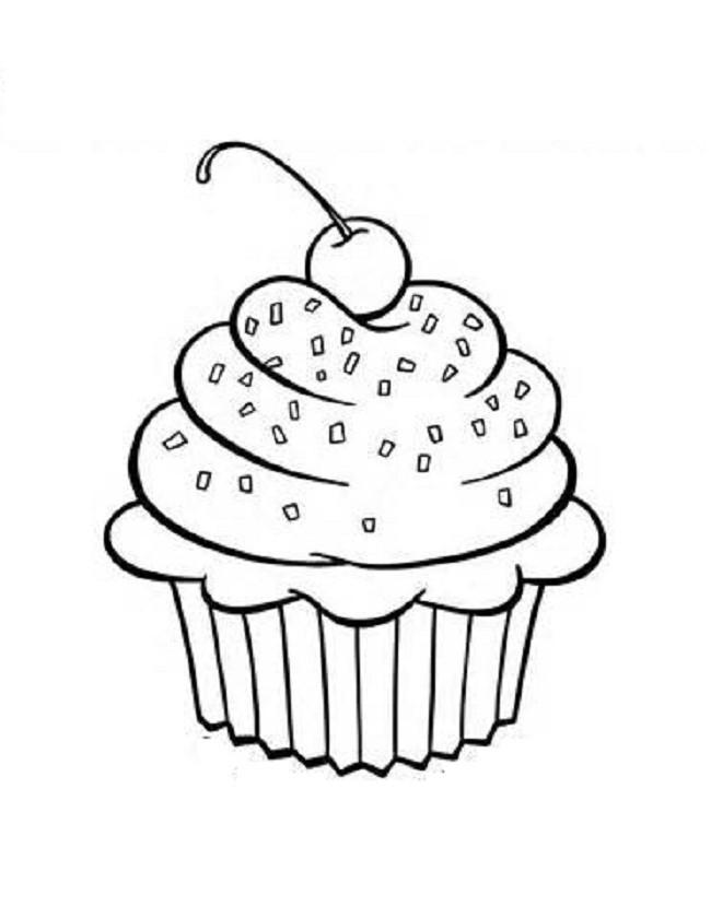Ausmalbilder Cupcake  Cupcake