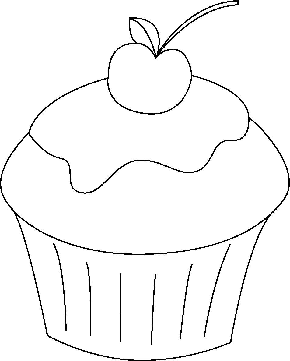 Ausmalbilder Cupcake  Cupcakes